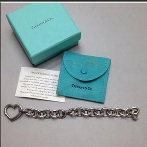 Classic Tiffany & Co Heart Clasp Bracelet